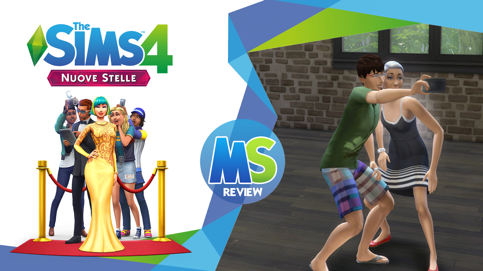 the sims 4 Nuove Stelle review logo