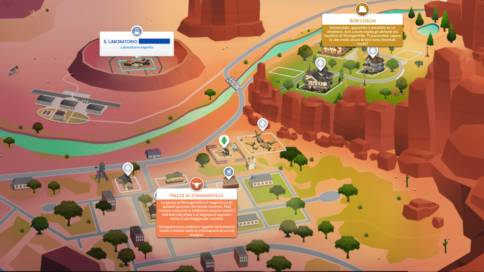 The Sims 4 StrangerVille Map