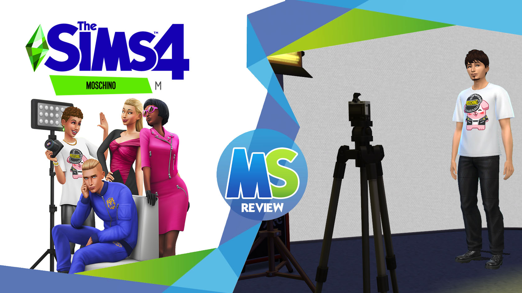 the sims 4 Moschino Stuff review logo